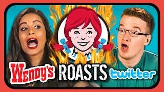 YouTubers React to Wendy's ROASTS Twitter!!!