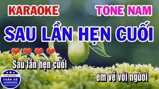 Karaoke Sau Lần Hẹn Cuối   Nhạc Sống Tone Nam   Karaoke Tuấn Cò