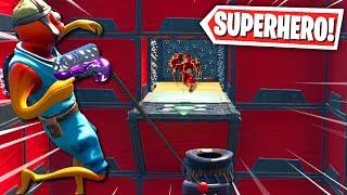 The ULTIMATE SUPERHERO Deathrun! (Fortnite Creative Mode)