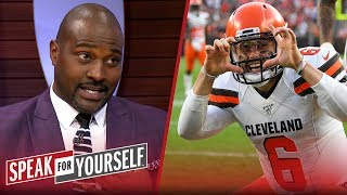 Baker Mayfield reaching out to Daniel Jones shows 'he cares' — Wiley | NFL | SPEAK FOR YOURSELF