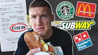 Letting fast food employees decide what I eat for 24 hours...