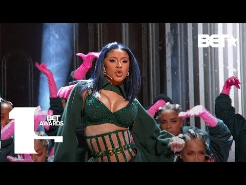 "Cardi B & Offset In FIRE ""Clout"" & ""Press"" Performance At The BET Awards! 