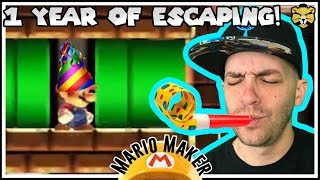 Celebrating One Year Of Grand Escape Rooms! #8! Super Mario Maker