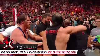 Roman Reigns incites a brawl with Bobby Lashley: Raw, July 9, 2018