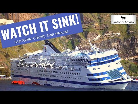 Sinking Cruise Ship - April 5, 2007 - Santorini Greece ...