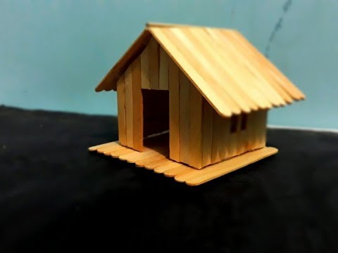 Cara Mudah Membuat Miniatur Rumah Panggung Dari Stik Es Krim