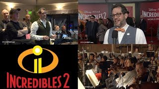 Incredibles 2 Scoring Session B-Roll & Michael Giacchino & Brad Bird Interview