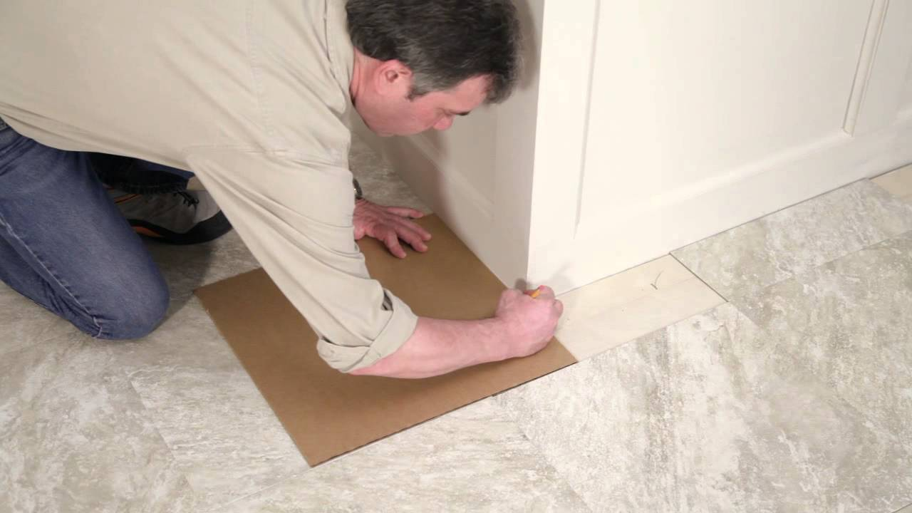 Installing Your Peel And Stick Vinyl Tile Floor Youtube