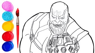 Avengers Infinity War Thanos | Drawing and Coloring Thanos | Marvel Avengers Coloring Pages