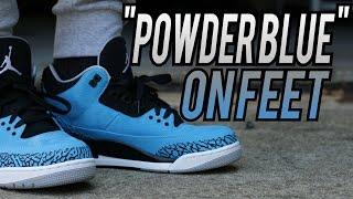 "Air Jordan 3 ""Powder Blue"" On Foot Review!"