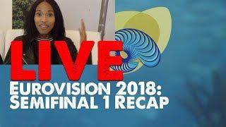 LIVE: Post Eurovision 2018 Semifinal 1 [RECAP]