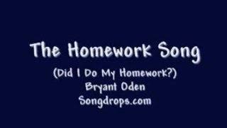Funny Song #6: The Homework Song