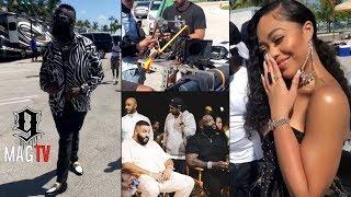 """Rick Ross & Jordyn Woods Behind The Scenes Of """"Big Tyme"""" Music Video! 🎥"""