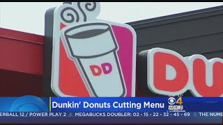Dunkin' Donuts Is Testing Out A Smaller Menu