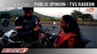 People react to TVS Radeon | Hindi | MotorOctane