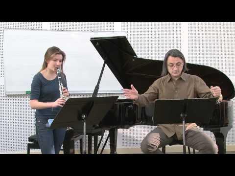 Masterclass de Florent Héau - 3 pièces de Stravinsky - Pièce n°1