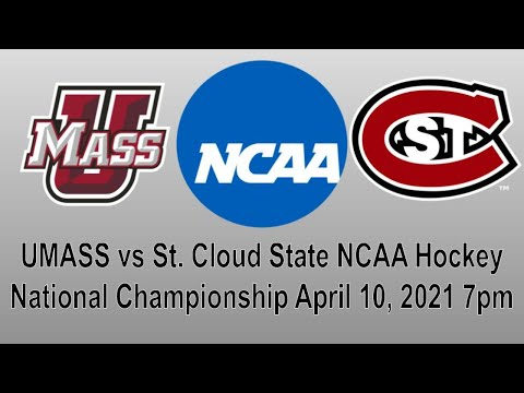 UMass vs St. Cloud State NCAA Hockey National Championship Live Play by Play Reaction + Chat
