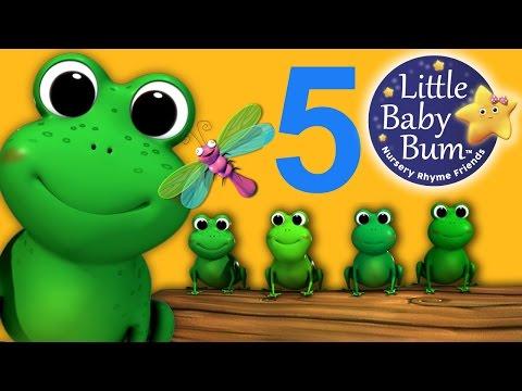 Five Little Speckled Frogs - NEW VIDEO | Nursery Rhymes | HD Version