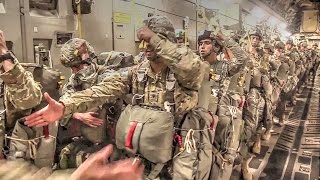 US Military Soldiers, Airmen In Airborne Operations