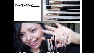 5 Best Mac Eyeshadow Brushes+ Easy E/S Tutorial Using the Brushes!