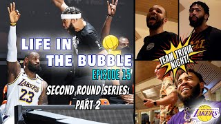 Life in the Bubble: Ep. 15 -  2nd Round LAL v. HOU: Part 2 + Team Trivia Night! | JaVale McGee Vlogs