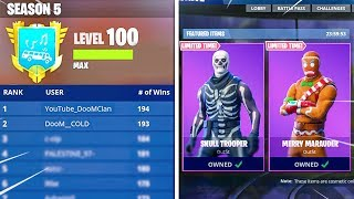*LVL 92* GIFTING our SKULL TROOPER! NEW UPDATE #1 RANKED PLAYER in the WORLD! Fortnite SEASON 5 Live