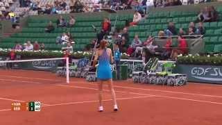Blatant Umpire Error - Hantuchova vs Kerber - RG 2014