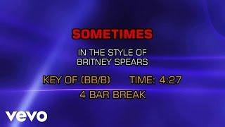 Britney Spears - Sometimes (Karaoke)