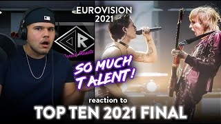 First Time Reaction EUROVISION TOP TEN 2021 (WOW!) | Dereck Reacts