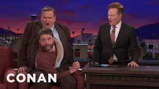 Zach Galifianakis Comes Out Of Andy  - CONAN on TBS