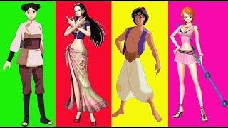 Wrong legs Aladdin Pose Nami Nico Robin Tenten -  キッズビデオ | 赤ちゃん漫画 |  子供向けアニメ