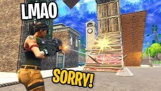 I LEFT FILL ON IN PLAYGROUND AND RUINED BUILD BATTLES in Fortnite (KID GETS REALLY MAD)