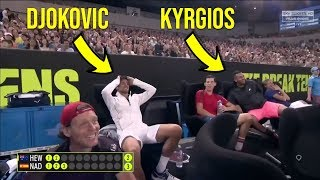 Rafael Nadal - Top 10 Reactions of Players who can't handle Rafa's game