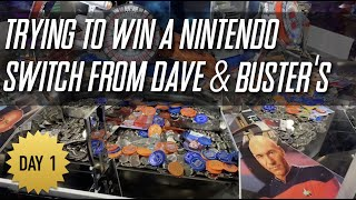 Dave & Buster's Star Trek Coin Pusher Nintendo Switch Hunt