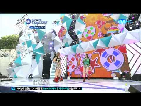 [HD]120805 Mnet M!Super Concert f(x) - Electric Shock & Hot Summer