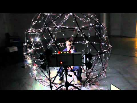 A multi array LED Dome by Merry Hodgkinson