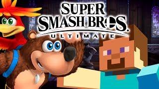 Smash Bros. Ultimate with Banjo or Minecraft Steve?