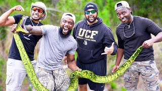 Catch & Cook GIANT PYTHONS In Florida!