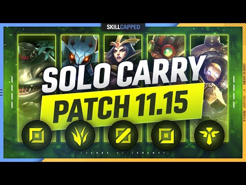 3 BEST SOLO CARRY Champions for EVERY ROLE in PATCH 11.15 - League of Legends