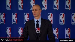 NBA commissioner announces fine, lifetime ban for Sterling