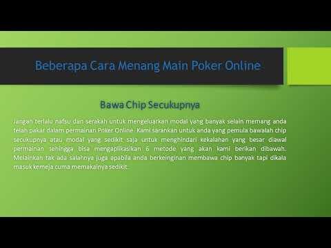 Tips Menang Main Poker Online Terbaru