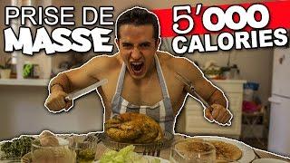 DEFI REPAS PRISE DE MASSE ! (5000 calories)