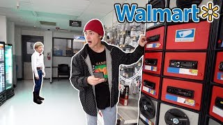 BLASTING THE WALMART YODELING KID ON THE SPEAKERS AT WALMART!