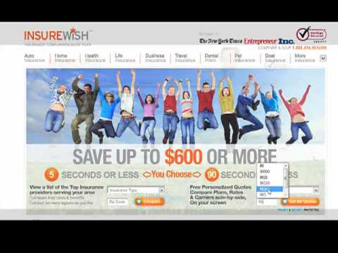Compare Auto Insurance quotes live on your screen and Save! Insurewish.com