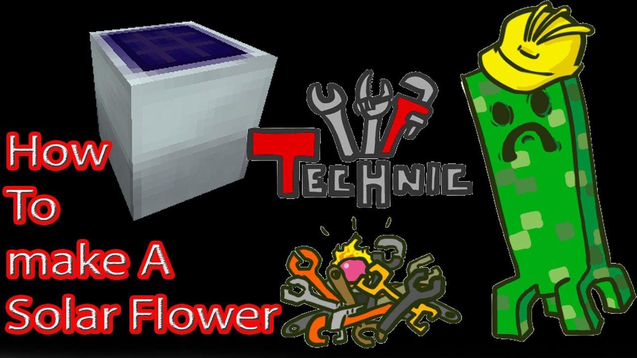 Tekkit Tutorials How To Make A Solar Flower Most