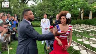 Joy Villa and Sebastian Gorka Clash with Reporter in Rose Garden