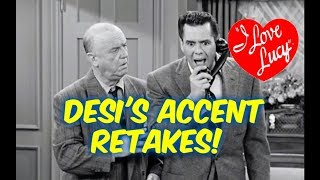 I Love Lucy!--Retakes During Filming Because of Desi Arnaz's Accent!!