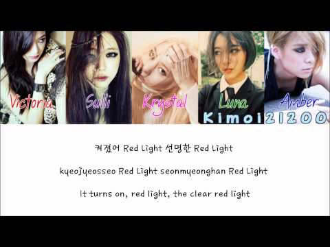f(x) - Red Light [Hangul/Romanization/English] Color & Picture Coded HD