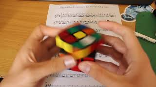 Cantina Theme Played By Solving a Rubik's Cube