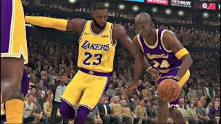 NBA 2K20 Gameplay - Los Angeles Lakers vs All-Time Los Angeles Lakers (LeBron vs Kobe) NBA 2K20 PS4